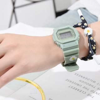 Đồng hồ thể thao nam nữ SPPORS Ms019 điện tử, dây cao su Hoa Cúc cực hot, full chức năng