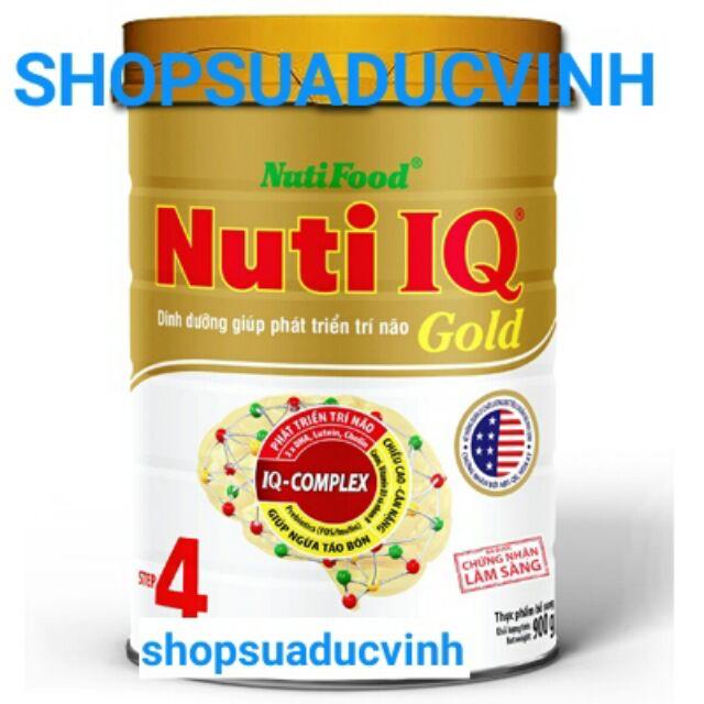 MẪU MỚI Sữa Nuti IQ Gold 4 900g date 03/2020