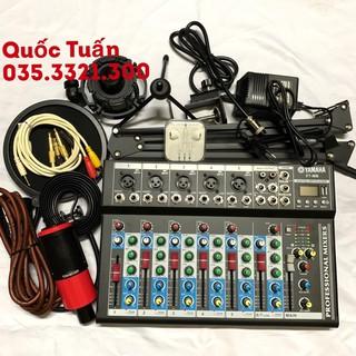 Bộ Mic Thu Âm Kèm Karaoke MIXER YAMAH F7 MB+ MIC TAKSTAR PC K320+ Đầy Đủ Phụ Kiện Bảo hành 1 năm