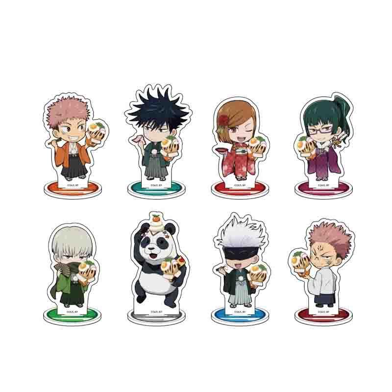 Jujutsu Kaisen Characters Mini Anime Action Figure Model Toys Tabletop Stand Gojo Satoru Itadori Yuji Gift
