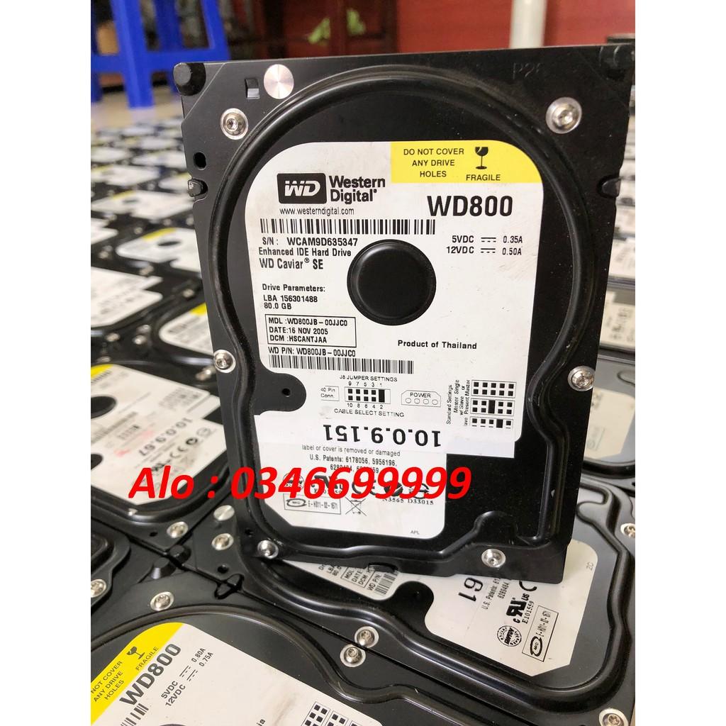 ổ cứng ATA 80G ATA dành cho máy vi tính máy photocopy máy thiết bị y tế Giá chỉ 150.000₫