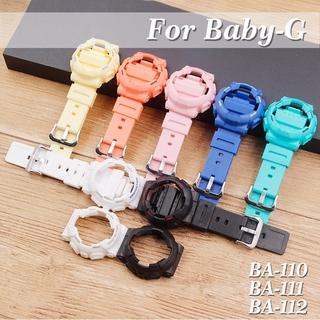 Dây Đeo Silicone + Ốp Lưng Màu Nhám Cho Đồng Hồ Casio Baby-G Ba-110 / 112 / 111 / 120