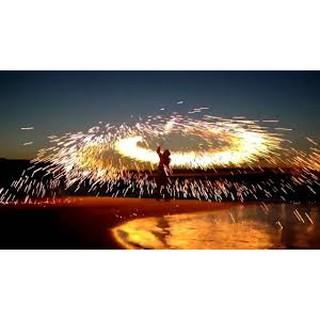 Bùi Nhùi Thép Gói Nhỏ tạo vòng tròn lửa chụp ảnh nghệ thuật