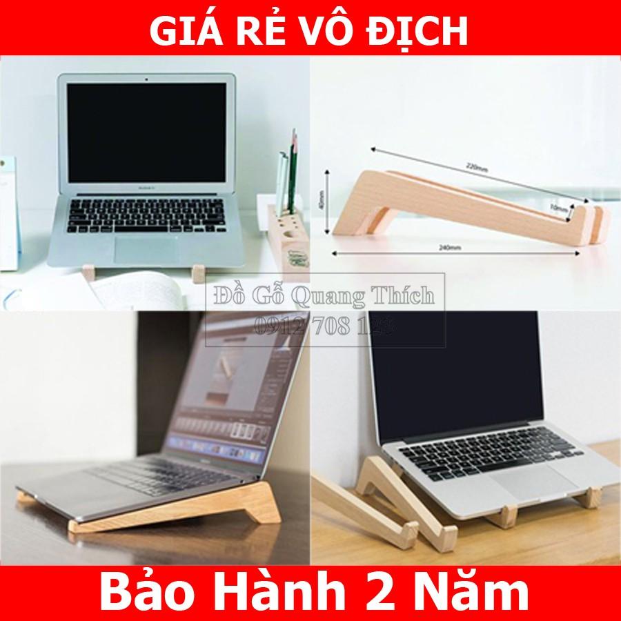 Giá đỡ Laptop, Kệ Laptop/Macbook bằng gỗ tự nhiên cao cấp QT03