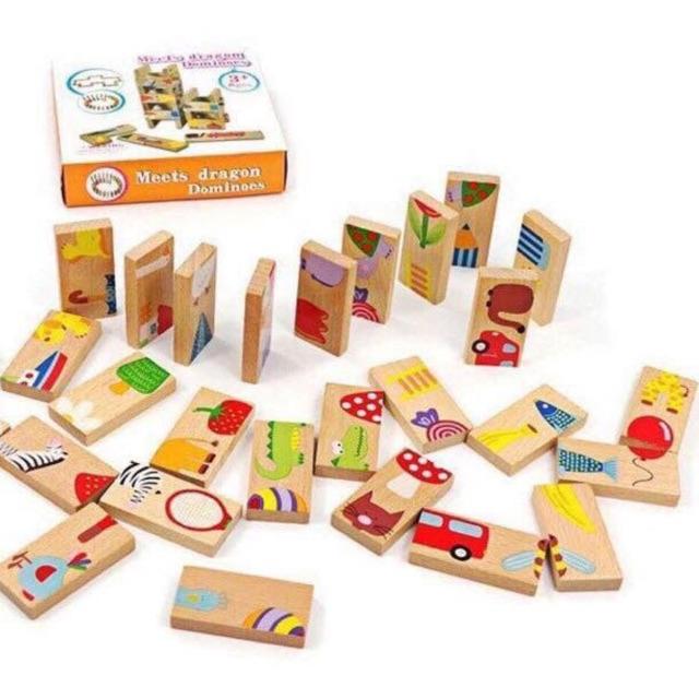 Domino 28 khối gỗ