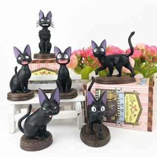 Mô Hình Nhân Vật Mèo Đen May Mắn Trang Trí Bàn Làm Việc