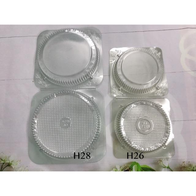Hộp nhựa tròn trong suốt đựng bánh H26-H28