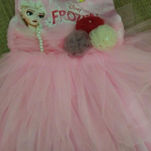 Sét váy cho bé gái và váy hồng búp bê
