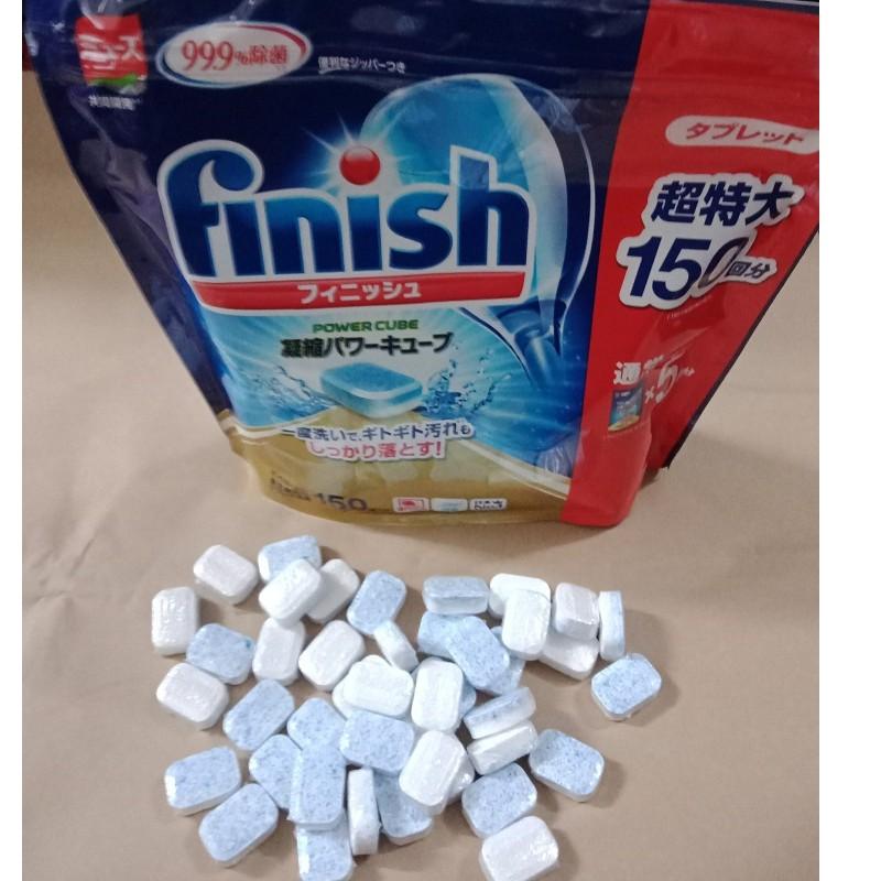 Viên rửa chén bát ly finish tổng hợp Nhật Bản túi 150 viên ( muối bóng Bột ) vt Somat Alio