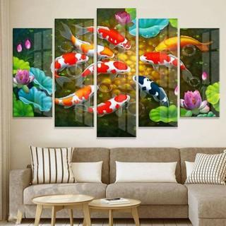bộ 5 tranh tráng gương cao cấp Giá xưởng kt 90×150