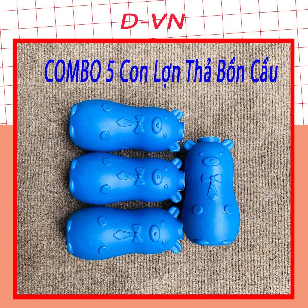Lợn thả bồn cầu - Viên thả bồn cầu hình con lợn - Vệ Sinh Toilet- Heo thả bồn cầu khử mùi diệt khuẩn D-VN