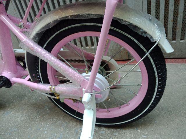 Xe đạp bé gái bánh hơi heo peppa size 14in. Cho bé 3-4 tuổi