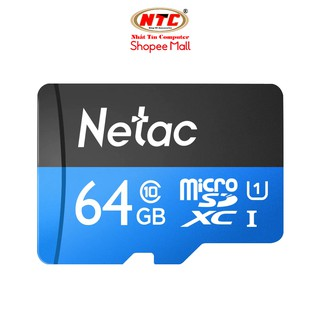 Thẻ nhớ MicroSDXC Netac C10 UHS-I U1 64GB 80MB/s (Đen) - Hãng phân phối chính thức