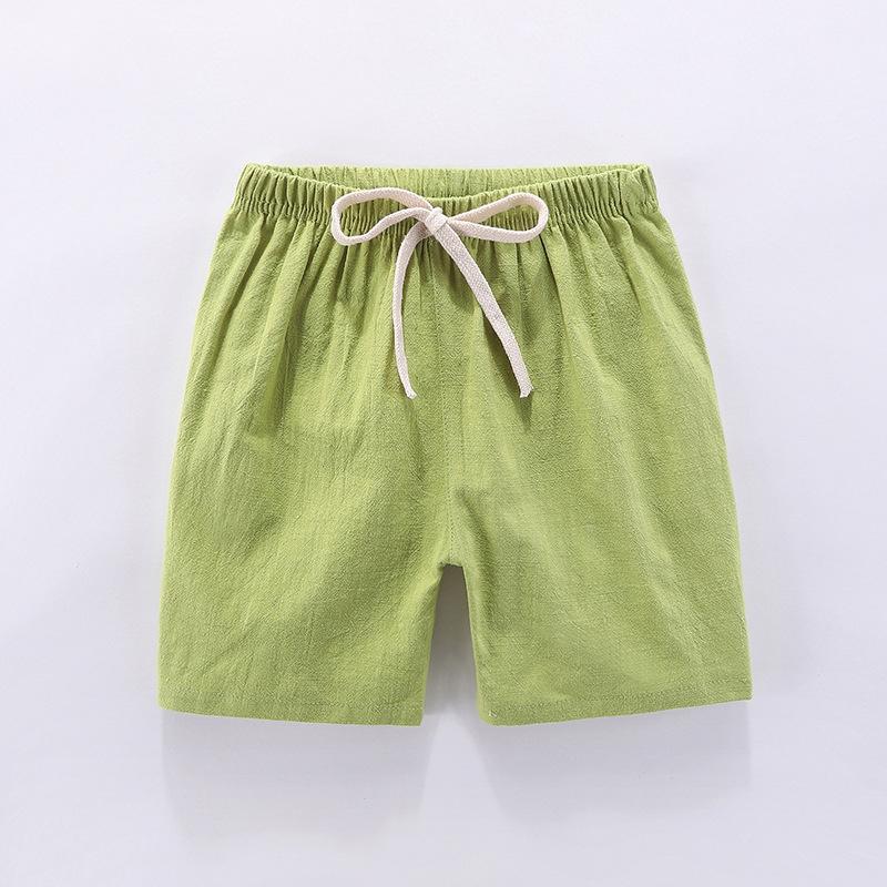 Quần Short Vải Lanh Cotton Cho Bé Từ 2-8 Tuổi