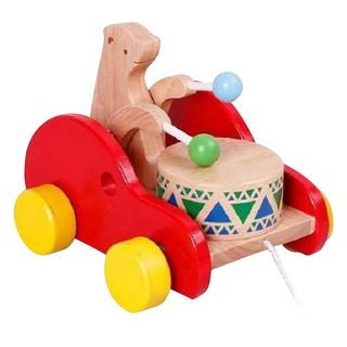 Đồ chơi gỗ Xe Con Thỏ Gõ Trống