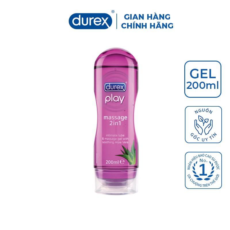[Mã COSMALL25 -10% ĐH 250K]Gel bôi trơn Durex Play Massage 200ml