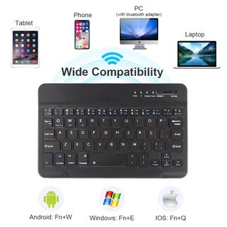 ANDROID Bàn Phím Không Dây Mini 10 Inch Cho Ipad Ios Laptop thumbnail
