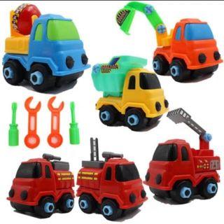Set 6 ô tô lắp ráp công trình cho bé