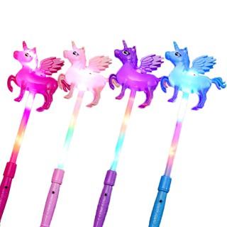 Unicorn Shape Light Stick for Children Cheering Large Finger Glowing Stick Light Toys