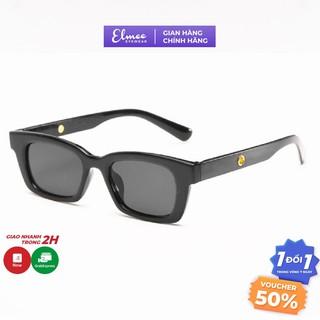 Kính mát nam nữ Elmee chống UV400 chất liệu nhựa chắc chắn thiết kế thời trang màu đen E004 thumbnail