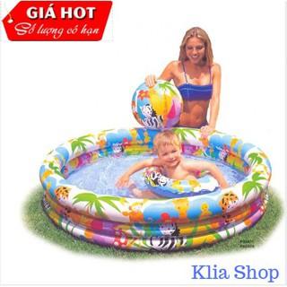 [Hàng nhập khẩu]Bể bơi ba tầng tặng kèm phao và bóng cho bé.