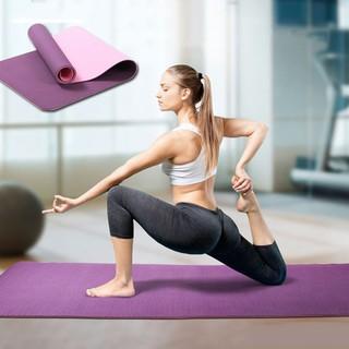 Thảm trải tập yoga ( TẶNG TÚI ) tập gym thể dục TPE êm nhẹ chống trơn trượt 2 lớp 6mm shop bán buôn, lẻ HCM thumbnail