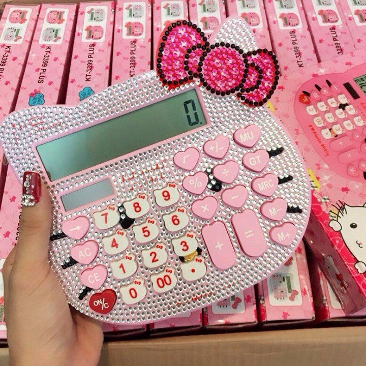 Máy tính Hello Kitty đính đá - 10086534 , 550447121 , 322_550447121 , 105000 , May-tinh-Hello-Kitty-dinh-da-322_550447121 , shopee.vn , Máy tính Hello Kitty đính đá