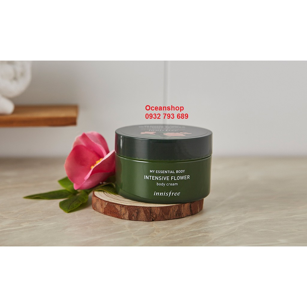 Kem Dưỡng Thể Hương Hoa Hồng Phong Lữ Innisfree My Essential Body Intensive Flower Body Cream 150ml