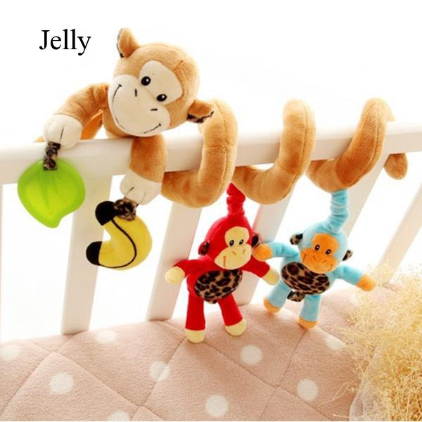 Baby Plush Monkey Hanging Toy for Bed Crib Stroller J712