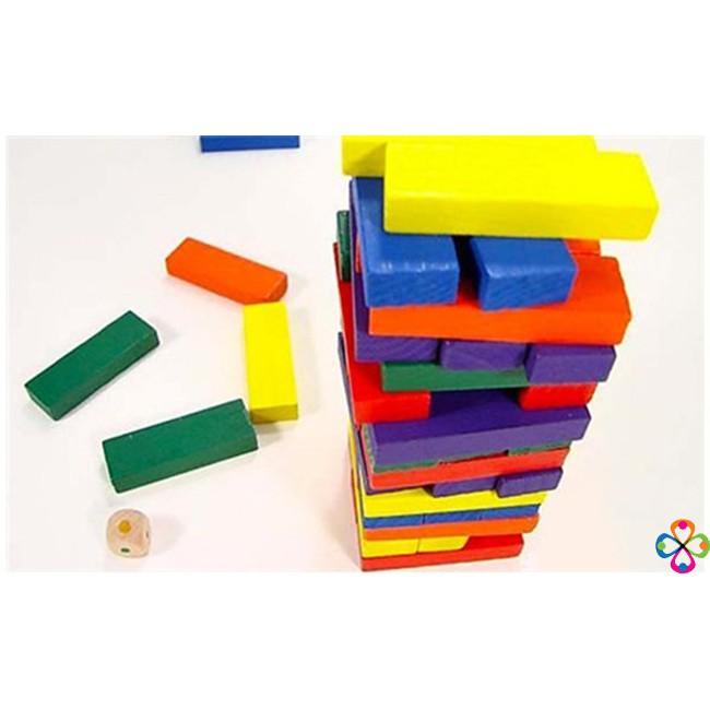 [Giá Rẻ Nhất] – Bộ đồ chơi rút gỗ 48 thanh màu