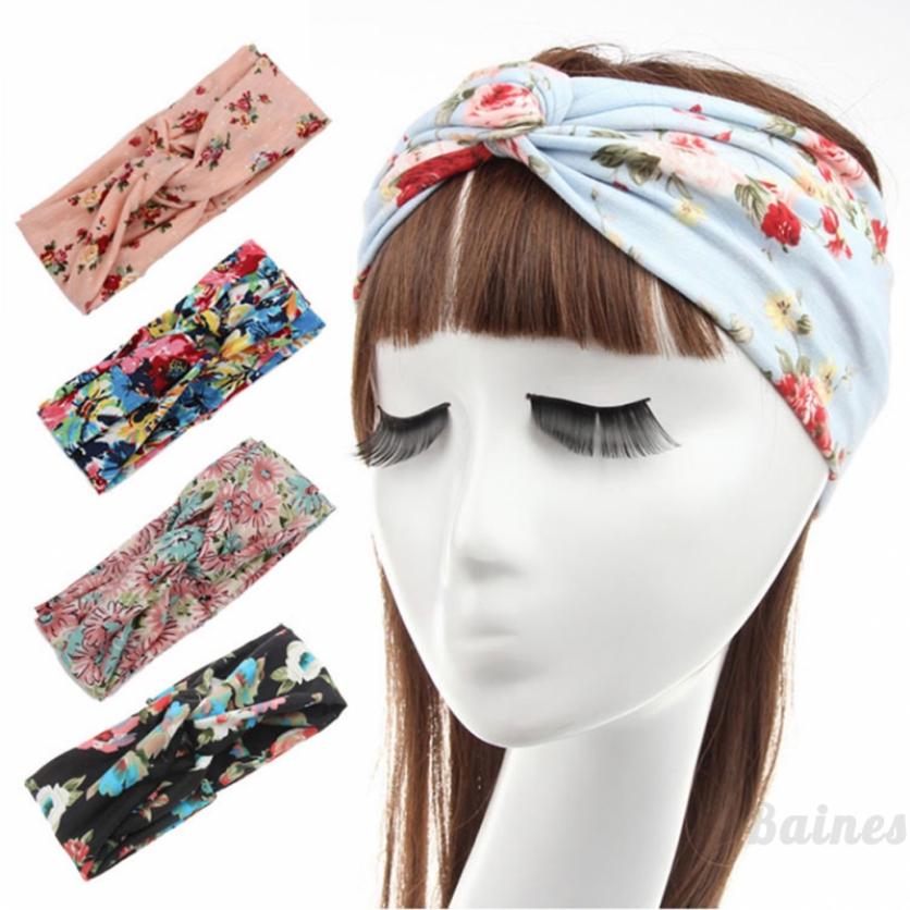 Baines Bohemian headband cotton printed ladies headband