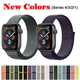 Dây đeo đồng hồ cong bằng ni lông 38mm / 40mm Or 42mm / 44mm cho Apple Iwatch 1/2/3/4/5