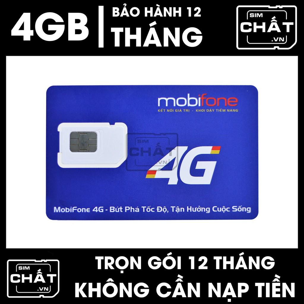 SIM 4G Mobifone MDT250A dùng DATA trọn gói 1 năm không nạp tiền - Khuyến mãi 4GB DATA tốc độ cao / tháng trong 12 tháng