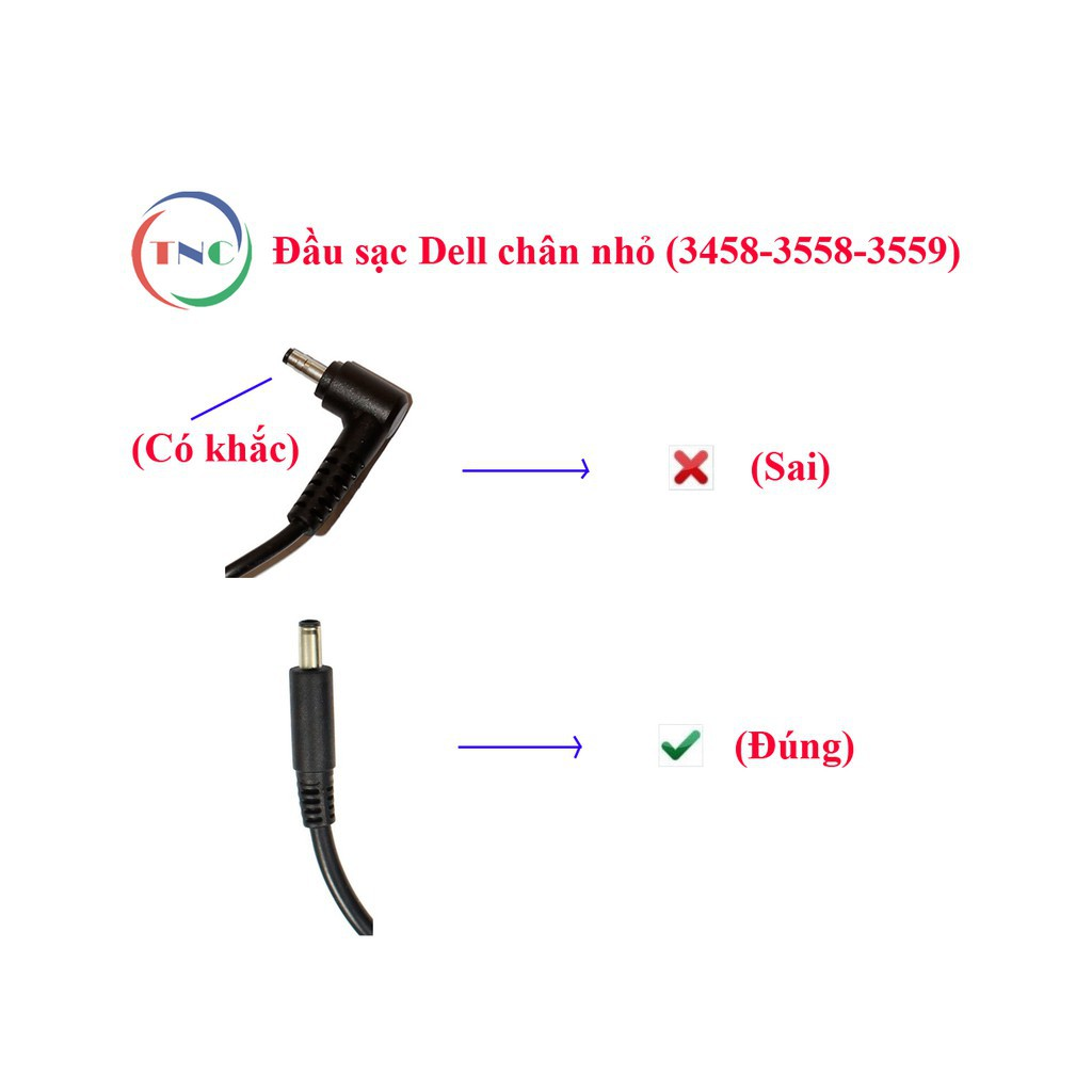 [Hình Chụp Thật + Video] Sạc Laptop Dell chân kim nhỏ ZIN 19.5V – 3.34A Adapter Dell 5568 3558 3458...