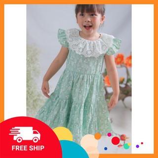 Váy hoa công chúa bé gái ⚡𝗙𝗥𝗘𝗘 𝗦𝗛𝗜𝗣⚡ Váy hoa dáng xoè, chất liệu mềm mại, phù hợp với làn da bé yêu
