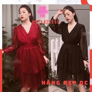 Váy Dự Tiệc Thiết kế Phối voan nhẹ nhàng dễ thương 💋 freeship 💋 Hoàn Xu