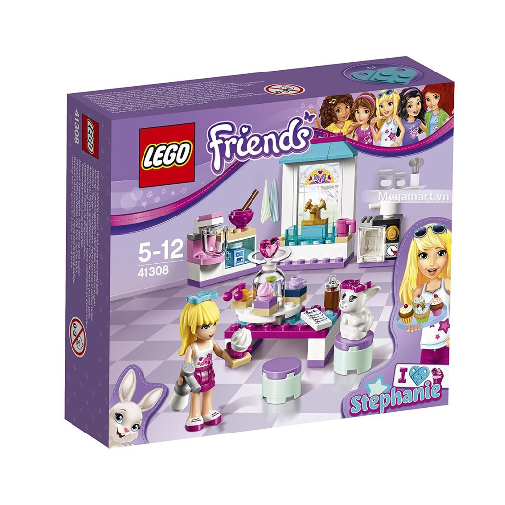 mô hình LEGO Friends - Tiệm bánh kem tình bạn của Stephanie 41308