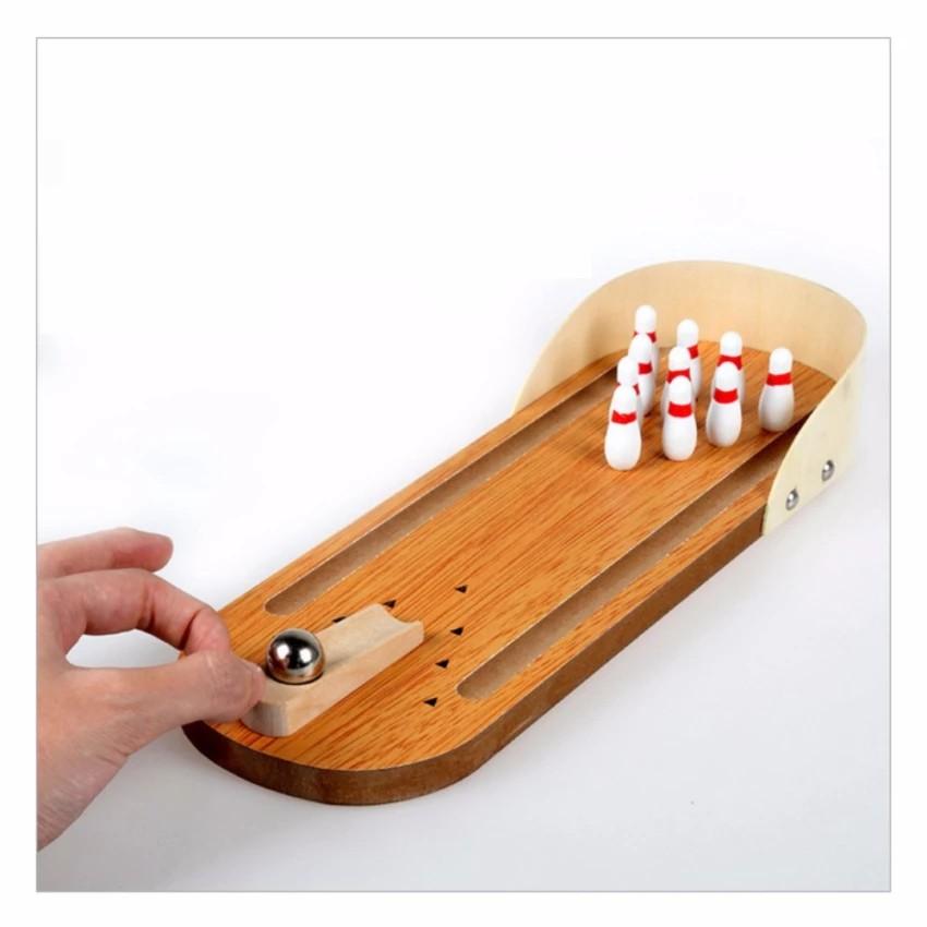 Bộ đồ chơi Bowling bằng gỗ giải trí phát triển trí tuệ cho bé