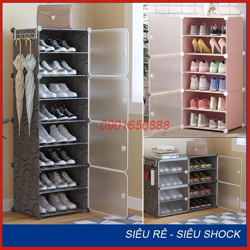 Tủ nhựa đựng giày lắp ghép - Kệ để giày đa năng