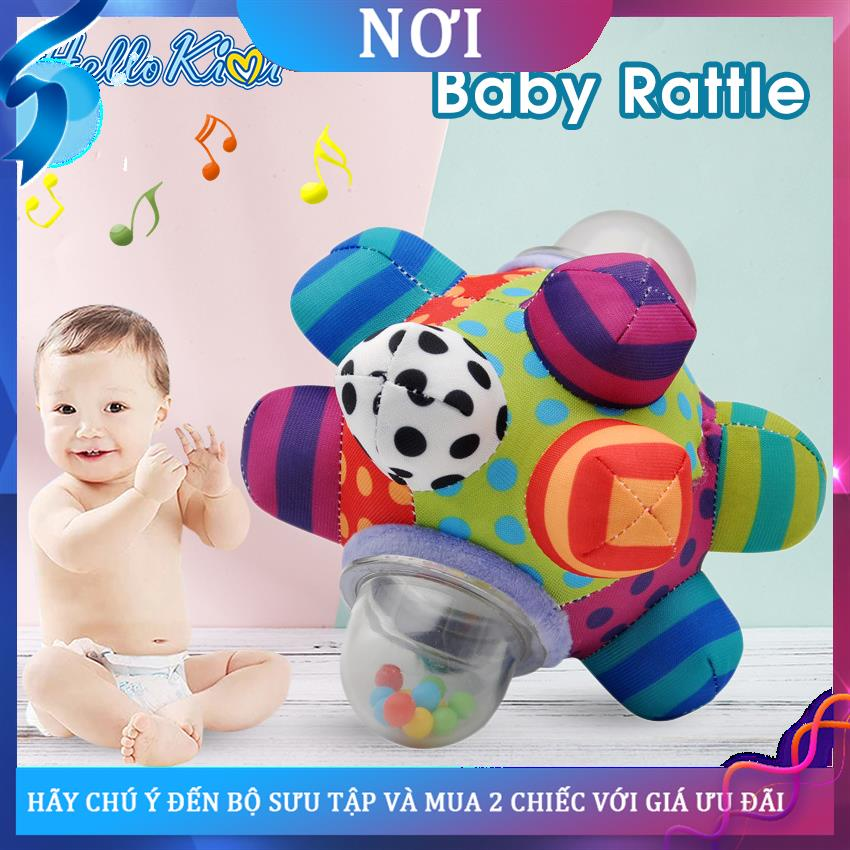 ♦✓✾HelloKimi Baby Rattles Newborn Toys Bump Rattle Ball Newborn Soft Shaker Grab Rolling Rattle Ball Hand Shaker Bells T