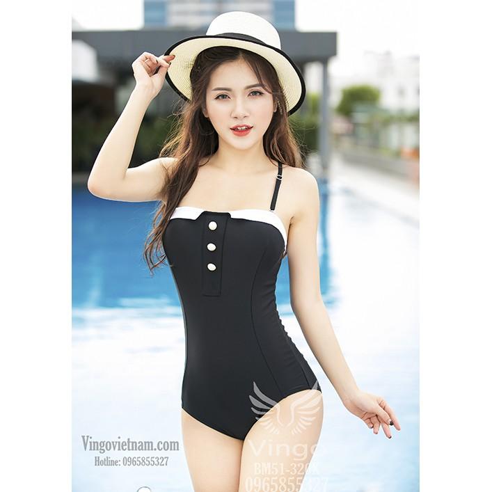 Bikini 1 mảnh đính cúc nổi bật sang chảnh