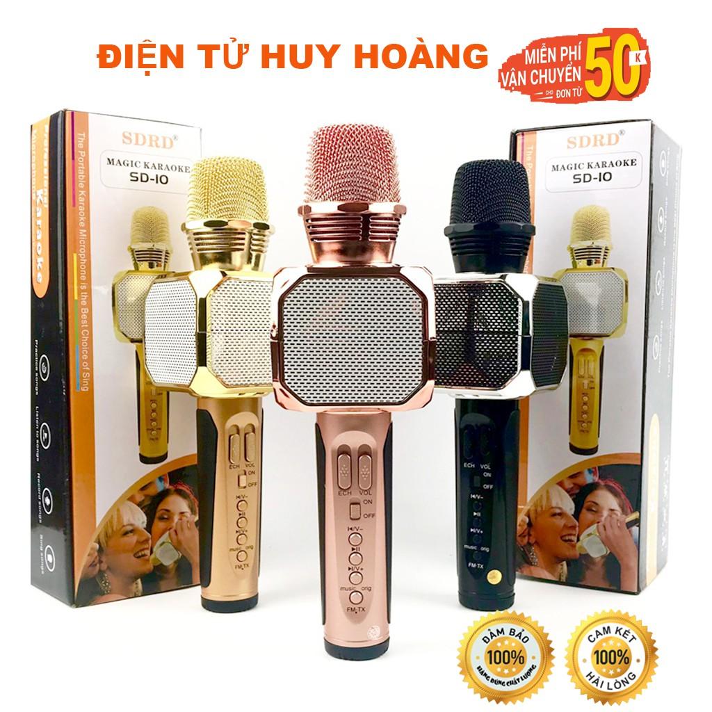 Micro Bluetooth Hát Karaoke Không Dây SD10 Đa Năng chỉnh giọng ghi âm- hàng chính hãng