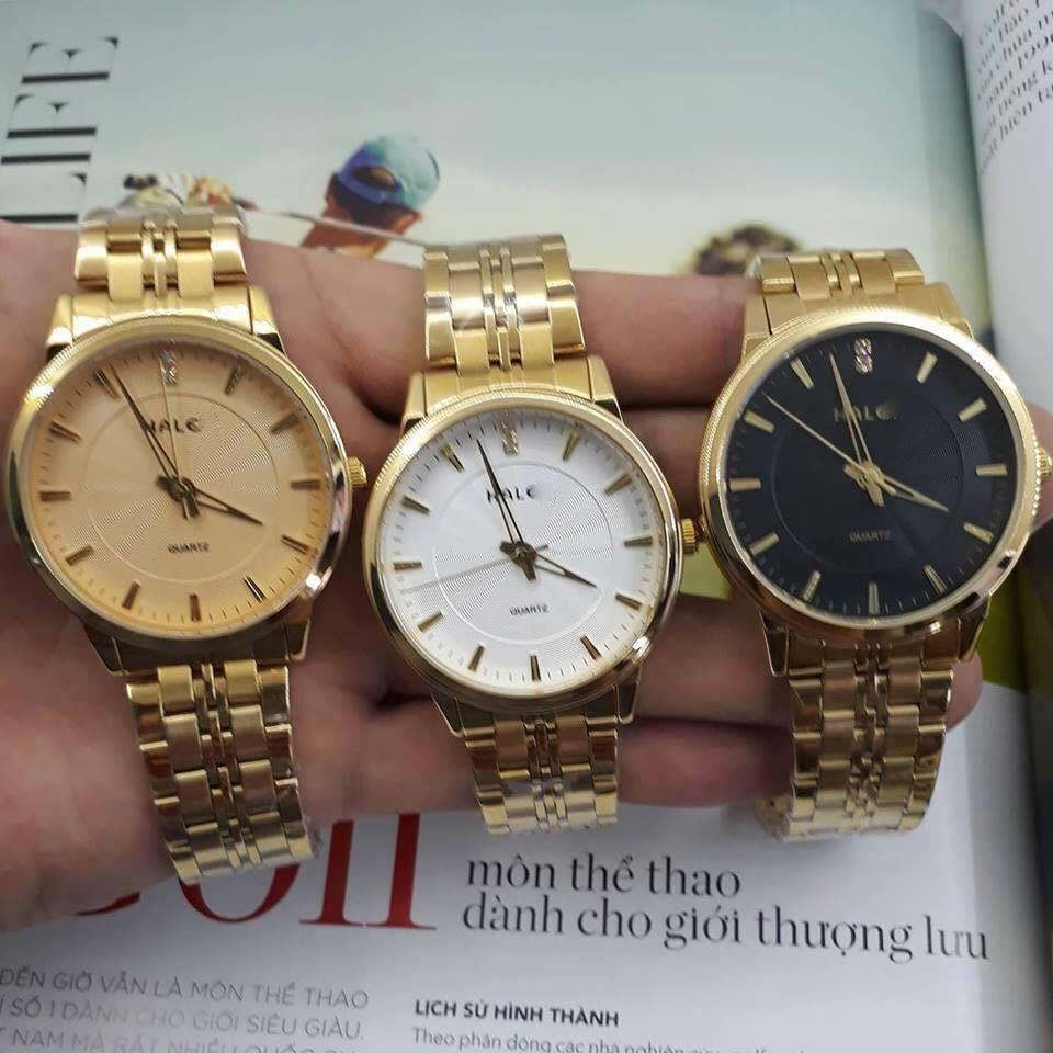 Đồng hồ nam Halei vàng kim chống nước cực tốt