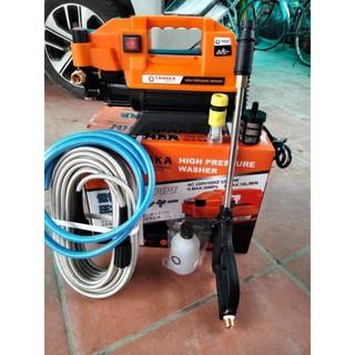 Máy rửa xe áp lực cao Tanaka T09 – tặng dây 15m kèm bình bọt