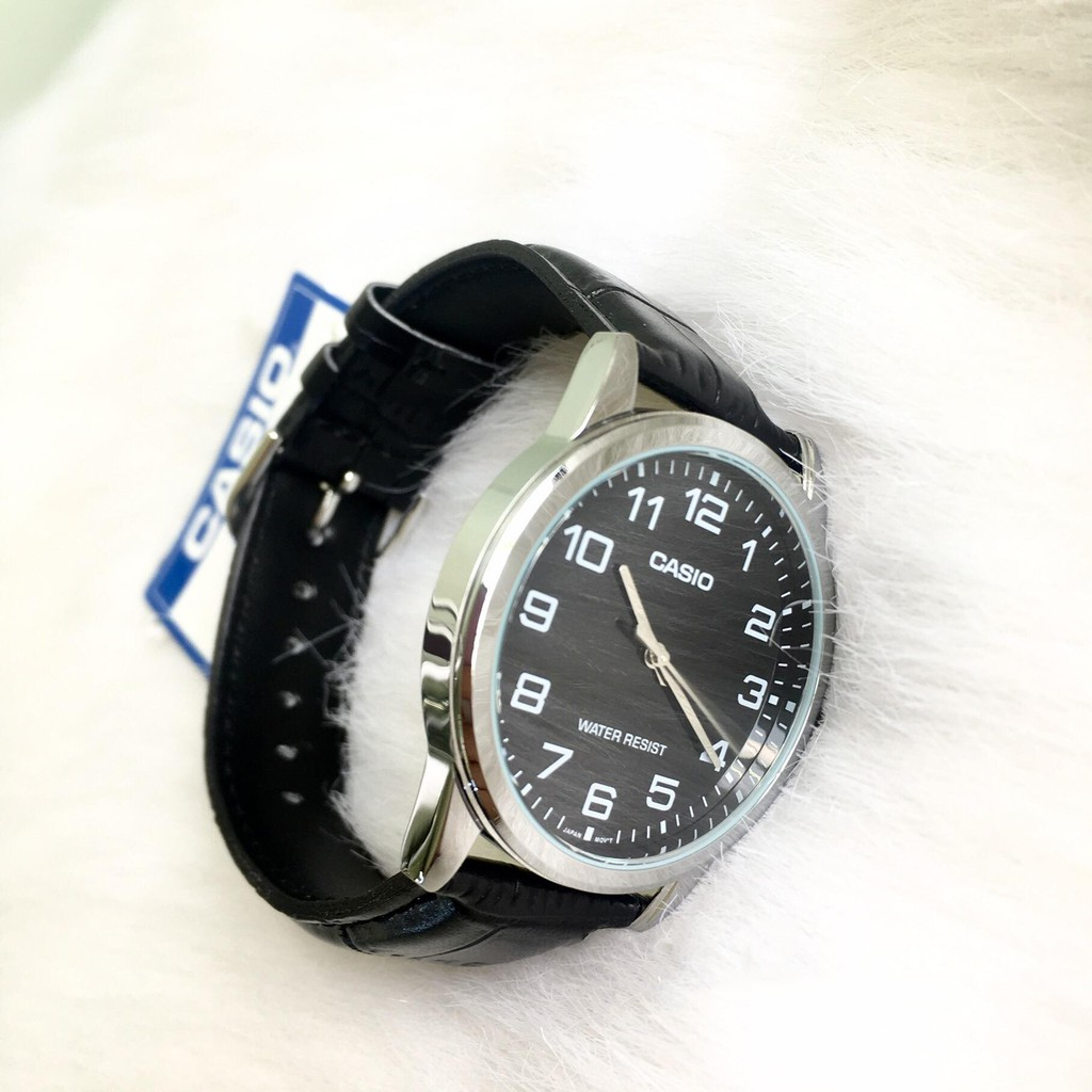 [HOT] Đồng hồ nam dây da Casio Standard chính hãng Anh Khuê MTP-V001L-1BUDF