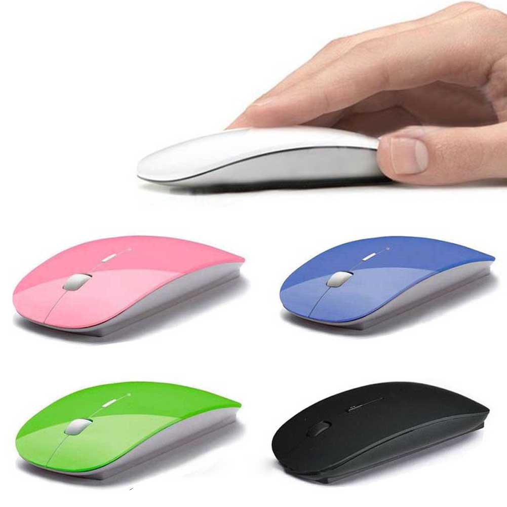 Optical Wireless Mouse 2.4GHz Super Slim for PC Laptop Computer + B