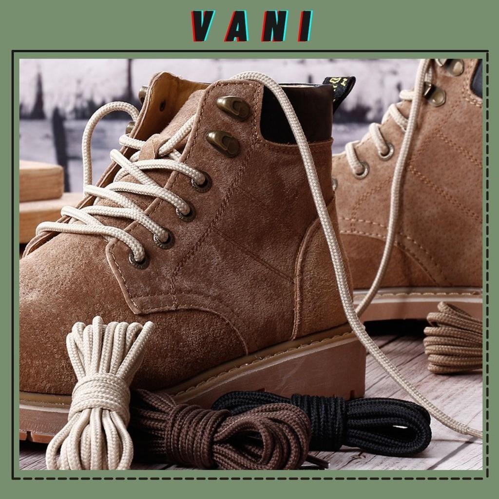 Một Cặp - 2 Dây Giày Boot Thể Thao Dây Giày Bản Tròn - VANI STORE