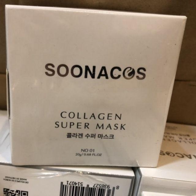 Mặt nạ Collagen Soonacos Hàn Quốc (1 hộp 20 viên)