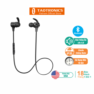 Tai Nghe TaoTronics Bluetooth 5.0 Khử Ồn Chống Nước Kết Nối Đồng Thời 2 Thiết Bị TT-BH064 thumbnail