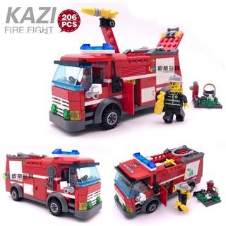 Xe cứu hỏa Kazi 1054 đồ chơi lắp ráp